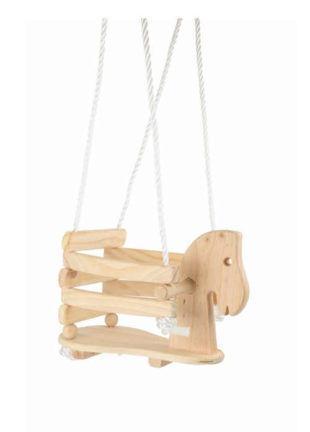 Dřevěná houpačka dětská ve tvaru koníka