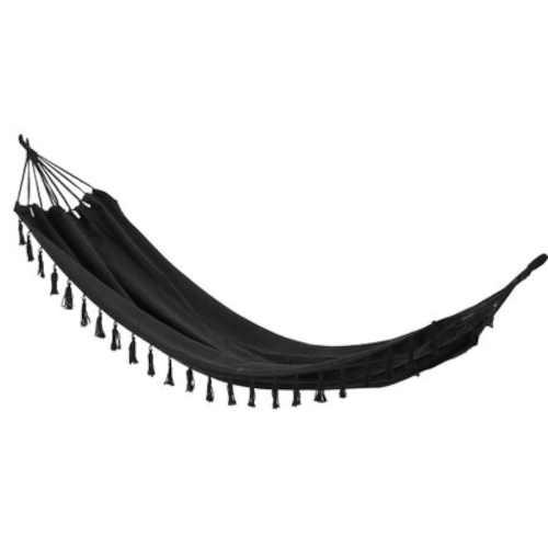 Závěsné houpací lehátko černé